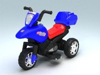 Best Seller Kids Boys Girls 3 Wheeler Ride On Trike Electric Motorbike Motorcycle Toy Car w/Music & Lunch Box, #811 Blue