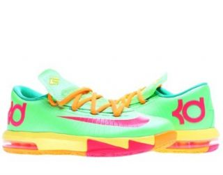 Nike KD VI LAM Kids Shoes Flash Lime/Sonic Yellow/Gamma Green/Atomic Red 599477 300 Shoes