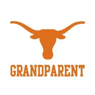 UNIVERSITY OF TEXAS LONGHORN GRANDPARENT clear vinyl decal car truck UT Sticker