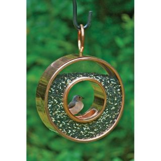 Good Directions Polished Copper Fly Thru Bird Feeder   Bird Feeders
