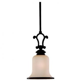Sea Gull Lighting 61145BLE 814 ENERGY STAR Acadia Mini Pendant, Champagne Seeded Glass Shade, Misted Bronze Finish   Ceiling Pendant Fixtures