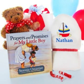 Cashmere Bunny Personalized Prayers for My Little Boy Gift Set   Baby Boy Gifts