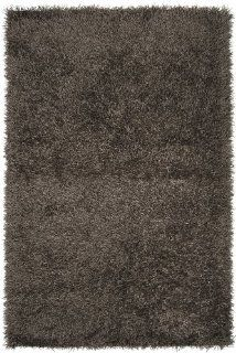 "Surya Vivid VIV 837 Shag Hand Woven 100% Polyester Dark Brown 2'6"" x 4'2"" Accent Rug   Machine Made Rugs"