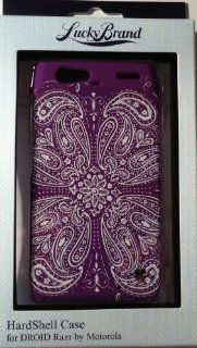 Lucky Brand Hardshell Snap on Case Cover For Motorola Droid RAZR Cell Phones & Accessories