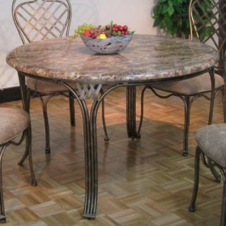 Allegra Stone Top Metal Dining Table   Dining Tables