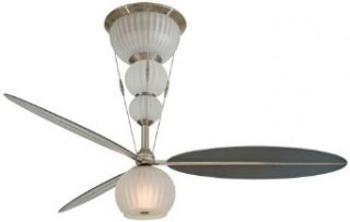 "Minka Aire F816 3 BN, Ensemble Brushed Nickel Flush Mount 60"" Ceiling Fan with Light & Wall Control"