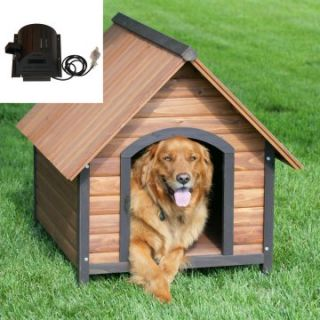 Precision Outback Country Lodge Dog House with cooling fan   Dog Houses