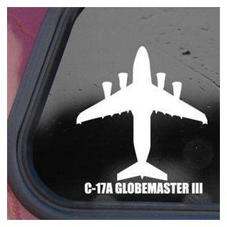 C 17A GLOBEMASTER III White Sticker Decal Military Soldier White Sticker Decal   Decorative Wall Appliques