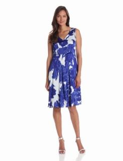 Jones New York Women's Sleeveless Pleated Dress