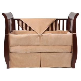 American Baby Company Organic Cotton Velour 4 Piece Crib Bedding Set   Baby Bedding Sets