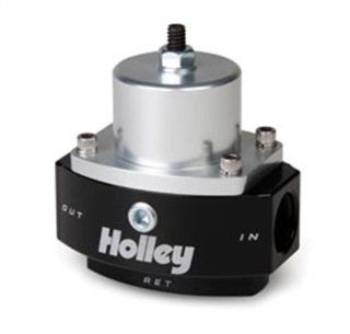 Holley 12 845 8AN Inlet / 2 x 6AN Outlet 4.5 9 PSI Adjustable Bypass Billet Fuel Pressure Regulator Automotive