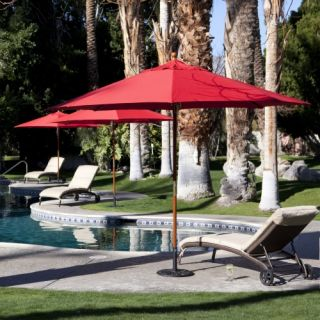 Coral Coast 11 ft. Commercial Wood Sunbrella Patio Umbrella   Commercial Patio Furniture