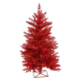 Vickerman 2 ft. Red Pre lit Christmas Tree   Christmas Trees