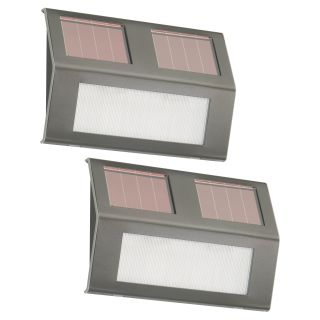 Nature Power Solar Step Lights   Set of 2   Solar Lights