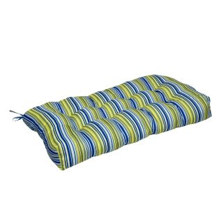 Greendale Home Fashions Indoor Seat Cushion   42 x 21 in.   Vivid Stripe   Bench Cushions