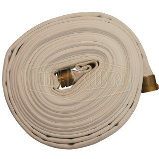 "Dixon Valve D825 50RBF Polyester 800# Double Jacket Fire Hose with Brass Rocker Lug, NST Male x NST Female, 360 psi Pressure, 50' Length, 2 1/2"" Hose ID Water Hoses"