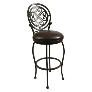 Pastel 26 in. Island Falls Swivel Counter Stool   Autumn Rust   Bar Stools
