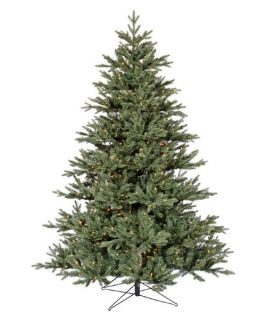 Blue Noble Fir Pre lit Christmas Tree   Christmas Trees