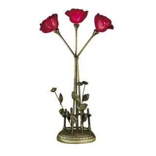 Dale Tiffany 3 Light Rose Table Lamp   Table Lamps