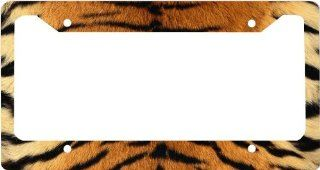 Tiger Stripes Brown novelty License Plate Frame For Car License Plate Frame Automotive