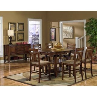 Progressive Furniture Fargo 5 Piece Pedestal Counter Height Dining Table Set   Dining Table Sets