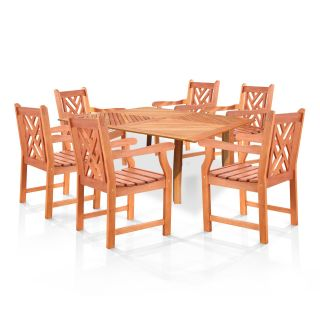 Latticework 60 in. Square Table and Chairs Dining Set   Seats 6   Patio Dining Sets