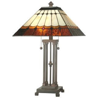 Dale Tiffany Diamond Mission Table Lamp   Table Lamps