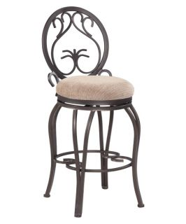 Chintaly Danika Memory Return 26 in. Swivel Counter Stool   Dark Champagne   Bar Stools