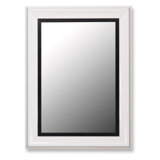 Glossy White Grande and Executive Black Wall Mirror   Wall Mirrors