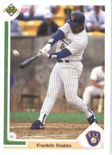 1991 Upper Deck # 718 Franklin Stubbs Milwaukee Brewers   MLB Baseball Trading Card Sports Collectibles