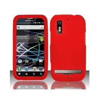 Red Soft Silicone Gel Skin Cover Case for Motorola Photon 4G MB855 Cell Phones & Accessories