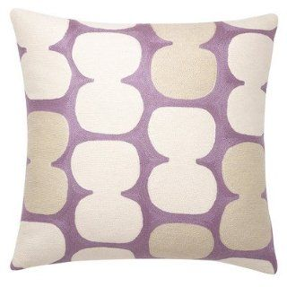 Tabla Wool Pillow Color Lilac / Cream/ Oyster   Throw Pillows