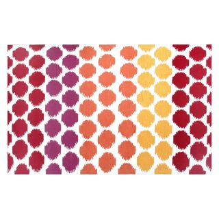 Rug Market Resort 25378 Limbo Outdoor Rug   Red / White / Yellow   Area Rugs