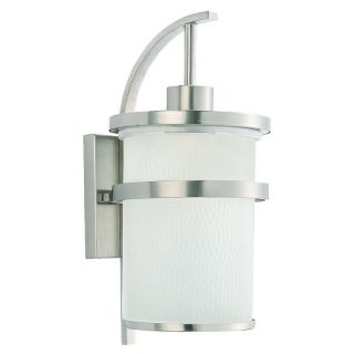 Sea Gull Eternity Outdoor Wall Light   20.75H in. Brushed Nickel   Outdoor Wall Lights