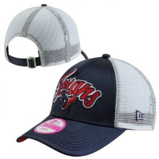 NFL Houston Texans Scripty Satin Trucker Women's Adjustable Hat  Sports Fan Baseball Caps  Clothing