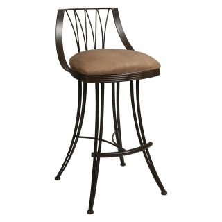 Pastel 26 in. Metropolitan Swivel Counter Stool   Autumn Rust   Bar Stools