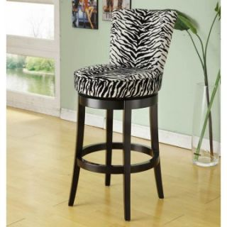 Armen Living Boston Swivel Counter Stool   26 in.   Zebra   Bar Stools