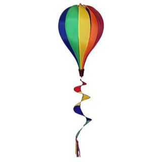 In the Breeze Rainbow Hot Air Balloon Wind Spinner   Wind Spinners