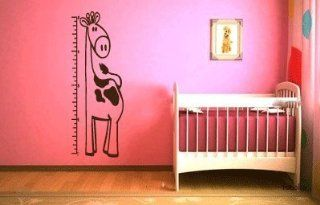 Giraffe Growth Chart Vinyl Wall Decal Sticker By LKS Trading Post  Nursery Growth Charts  Baby