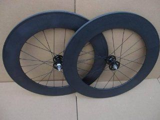 88mm Tubular Carbon Fiber 700c Track Bike Wheels Fixed Gear Single Speed Bicycle Wheelset  Sports & Outdoors