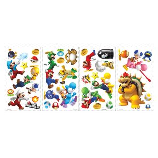 Nintendo   Super Mario Bros. Wii Peel and Stick Wall Decals   Wall Decals