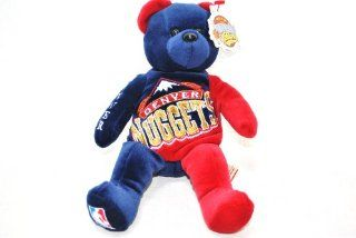 DENVER NUGGETS OFFICIAL NBA LARGE LOGO 8IN SPECIAL FABRIC BASKETBALL PLUSH TEDDY BEAR Toys & Games