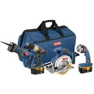 Factory Reconditioned Ryobi ZRP842 ONE Plus 18V Cordless Super Combo Kit   Power Tool Combo Packs