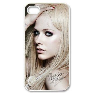 Custom Avril Lavigne Cover Case for iPhone 4 4s LS4 845 Cell Phones & Accessories