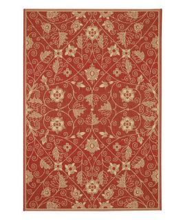 Capel Rugs Elsinore Garden Maze Indoor/Outdoor Area Rug   Poppy   Area Rugs