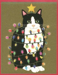 Black & White Cat Christmas Cards   Greeting Cards