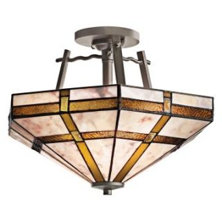 Kichler 65350 Tacoma 2 Light Semi Flush Ceiling Light   16W in. Bronze   Tiffany Ceiling Lighting