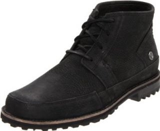 Rockport Men's Stitched Leather Chukka, Black, 12 M US Boots Shoes