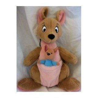 "Disney Plush Kanga & Roo, Winnie Pooh Kangaroo with Baby in Pouch Jumbo 25"" Huge Rare Jumbo Doll Toy Toys & Games"