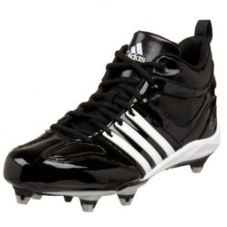 adidas Men's Reggie III Td D Football Cleat,Black/White/Silver,6.5 M Clothing